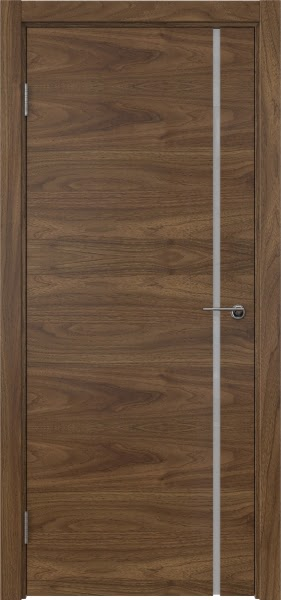 Межкомнатная дверь ZM016 (шпон американский орех / триплекс белый)
