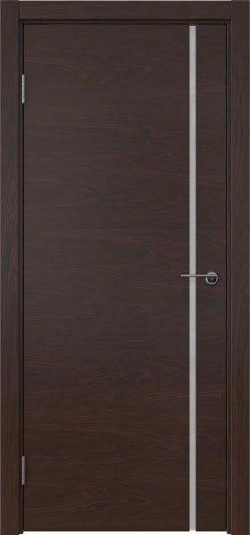 Межкомнатная дверь ZM016 (шпон дуб коньяк / триплекс белый)