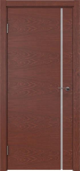 Межкомнатная дверь ZM016 (шпон красное дерево / триплекс белый)