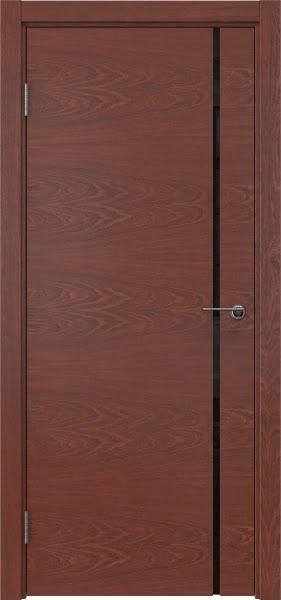 Межкомнатная дверь ZM016 (шпон красное дерево / триплекс черный)