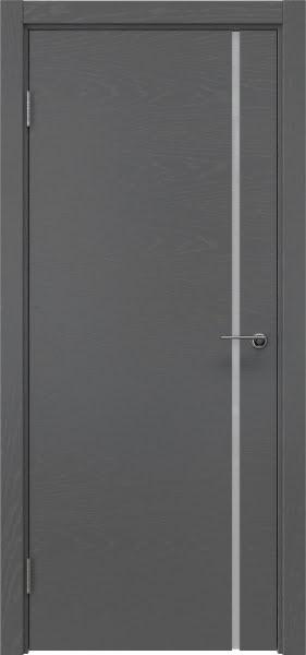Межкомнатная дверь ZM016 (шпон ясень серый / триплекс белый)