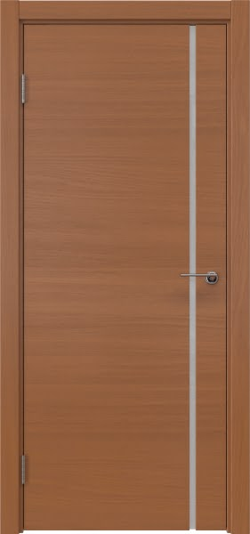 Межкомнатная дверь ZM016 (шпон анегри / триплекс белый)