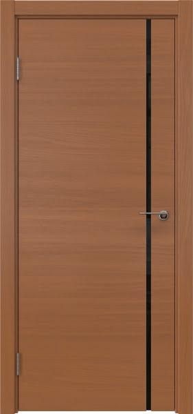 Межкомнатная дверь ZM016 (шпон анегри / триплекс черный)
