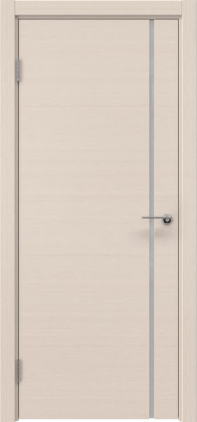 Межкомнатная дверь ZM016 (шпон беленый дуб / триплекс белый)