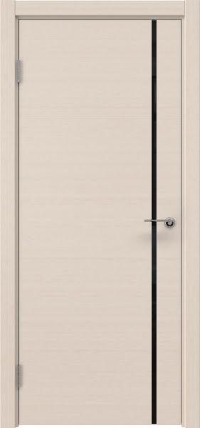 Межкомнатная дверь ZM016 (шпон беленый дуб / триплекс черный)