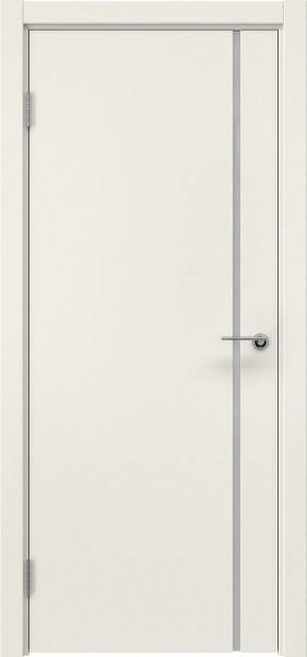 Межкомнатная дверь ZM016 (эмаль слоновая кость / триплекс белый)