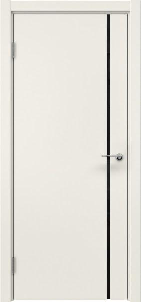 Межкомнатная дверь ZM016 (эмаль слоновая кость / триплекс черный)