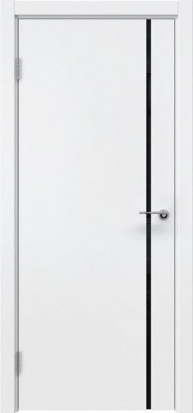 Межкомнатная дверь ZM016 (эмаль белая / триплекс черный)