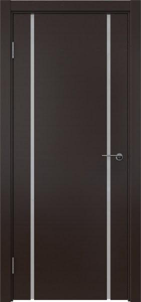 Межкомнатная дверь ZM017 (шпон венге / триплекс белый)
