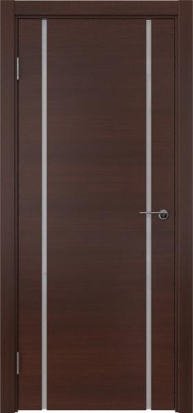 Межкомнатная дверь ZM017 (шпон итальянский орех / триплекс белый)