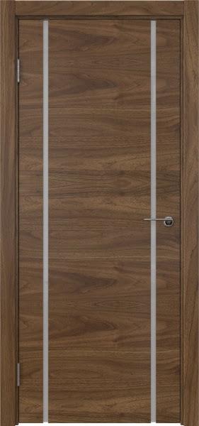 Межкомнатная дверь ZM017 (шпон американский орех / триплекс белый)