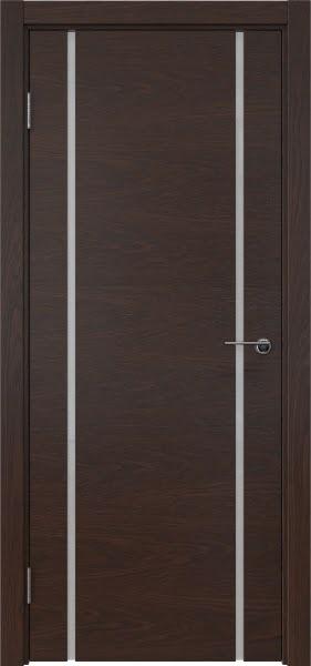 Межкомнатная дверь ZM017 (шпон дуб коньяк / триплекс белый)