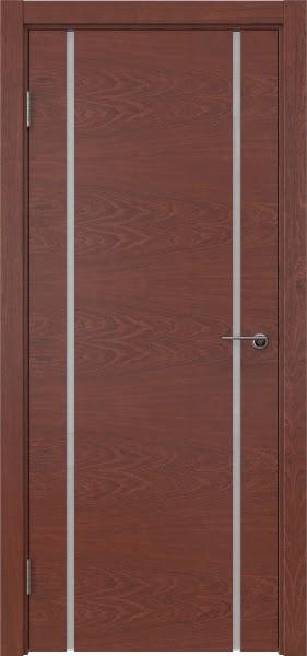 Межкомнатная дверь ZM017 (шпон красное дерево / триплекс белый)