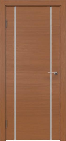 Межкомнатная дверь ZM017 (шпон анегри / триплекс белый)