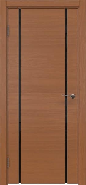 Межкомнатная дверь ZM017 (шпон анегри / триплекс черный)