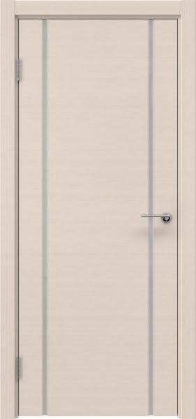 Межкомнатная дверь ZM017 (шпон беленый дуб / триплекс белый)