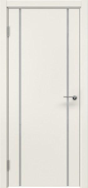 Межкомнатная дверь ZM017 (эмаль слоновая кость / триплекс белый)