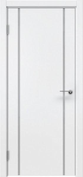 Межкомнатная дверь ZM017 (эмаль белая / триплекс белый)