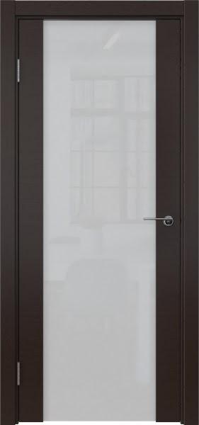 Межкомнатная дверь ZM018 (шпон венге / триплекс белый)