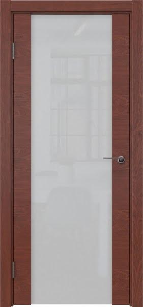 Межкомнатная дверь ZM018 (шпон красное дерево / триплекс белый)