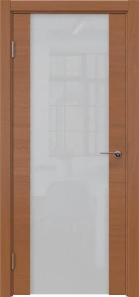 Межкомнатная дверь ZM018 (шпон анегри / триплекс белый)
