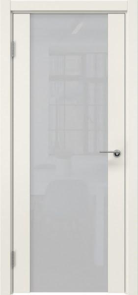Межкомнатная дверь ZM018 (эмаль слоновая кость / триплекс белый)