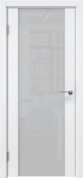 Межкомнатная дверь ZM018 (эмаль белая / триплекс белый)