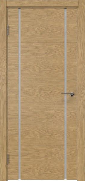 Межкомнатная дверь ZM020 (натуральный шпон дуба / триплекс белый)