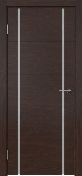 Межкомнатная дверь ZM020 (шпон дуб коньяк / триплекс белый)