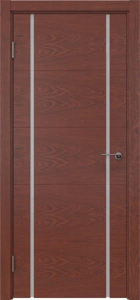 Межкомнатная дверь ZM020 (шпон красное дерево / триплекс белый)