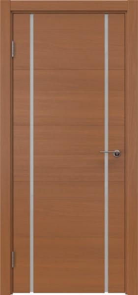 Межкомнатная дверь ZM020 (шпон анегри / триплекс белый)