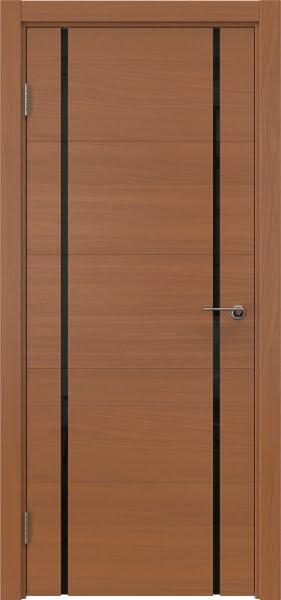 Межкомнатная дверь ZM020 (шпон анегри / триплекс черный)