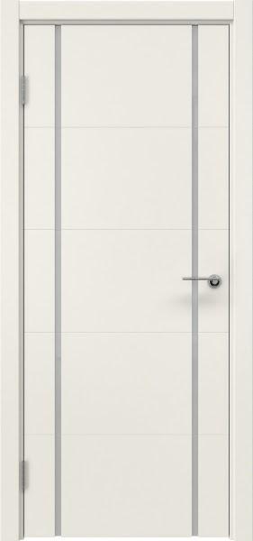 Межкомнатная дверь ZM020 (эмаль слоновая кость / триплекс белый)