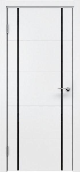 Межкомнатная дверь ZM020 (эмаль белая / триплекс черный)