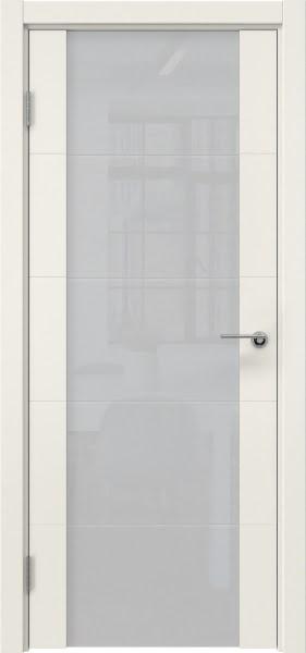 Межкомнатная дверь ZM021 (эмаль слоновая кость / триплекс белый)