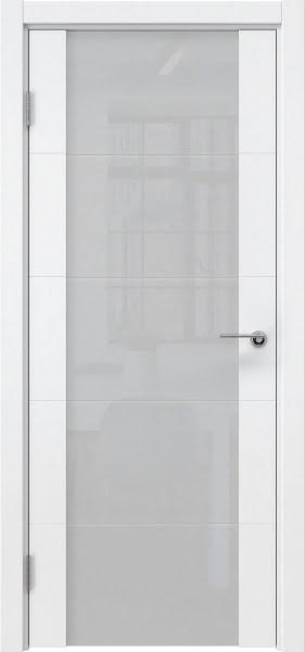 Межкомнатная дверь ZM021 (эмаль белая / триплекс белый)