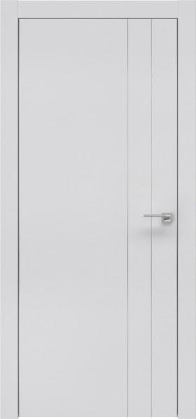 Межкомнатная дверь ZM023 (экошпон светло-серый / глухая)
