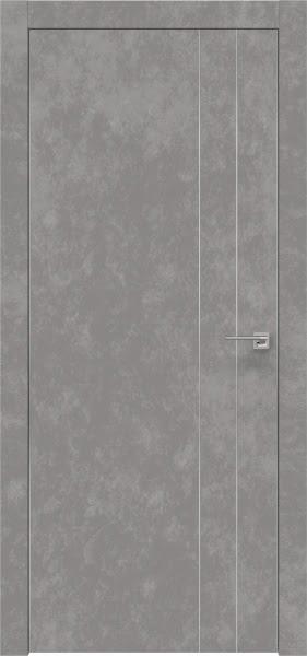 Межкомнатная дверь ZM023 (экошпон «бетон» / глухая)