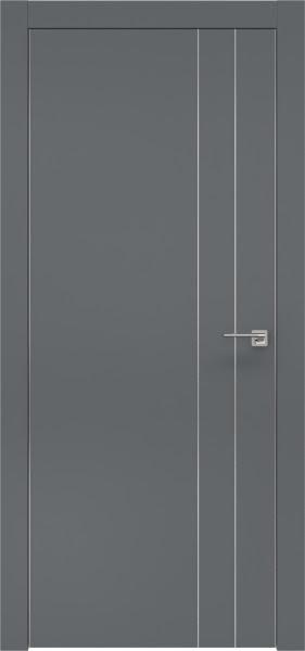Межкомнатная дверь ZM023 (экошпон «графит» / глухая)