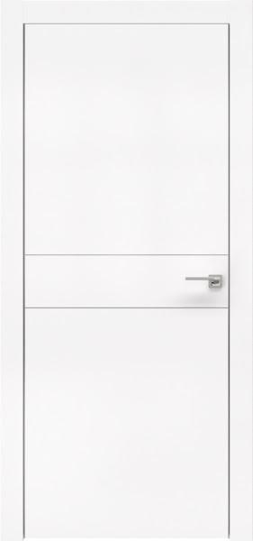 Межкомнатная дверь ZM024 (экошпон белый / глухая)