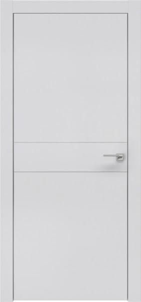 Межкомнатная дверь ZM024 (экошпон светло-серый / глухая)