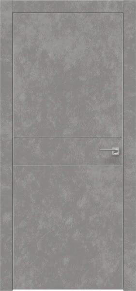 Межкомнатная дверь ZM024 (экошпон «бетон» / глухая)