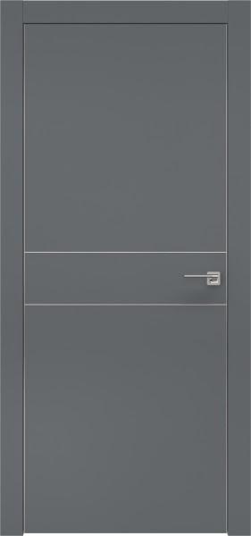 Межкомнатная дверь ZM024 (экошпон «графит» / глухая)