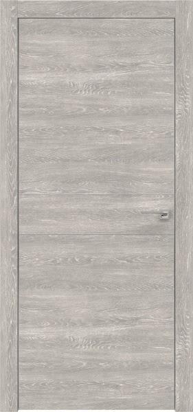 Межкомнатная дверь ZM024 (экошпон «серый дуб патина» / глухая)