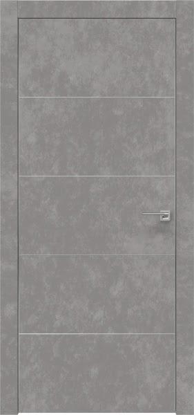 Межкомнатная дверь ZM025 (экошпон «бетон» / глухая)