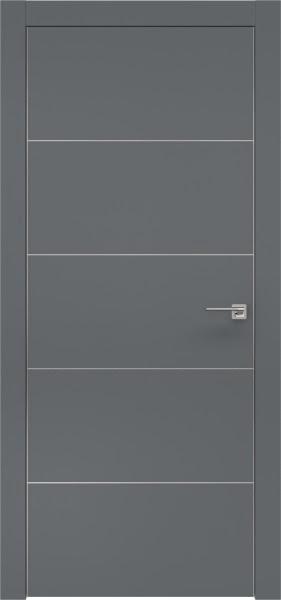 Межкомнатная дверь ZM025 (экошпон «графит» / глухая)