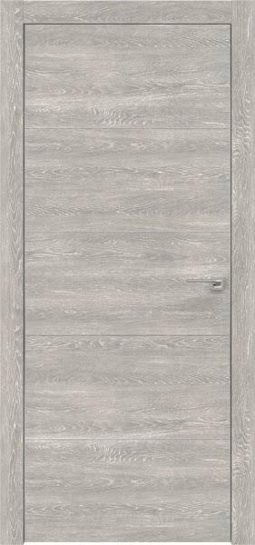 Межкомнатная дверь ZM025 (экошпон «серый дуб патина» / глухая)