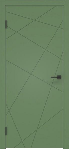 Межкомнатная дверь ZM031 (эмаль RAL 6011, глухая)