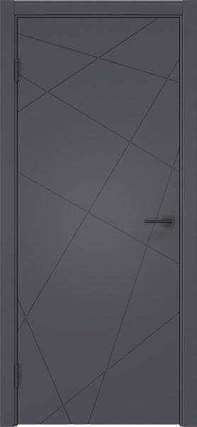 Межкомнатная дверь ZM031 (эмаль серая, глухая)