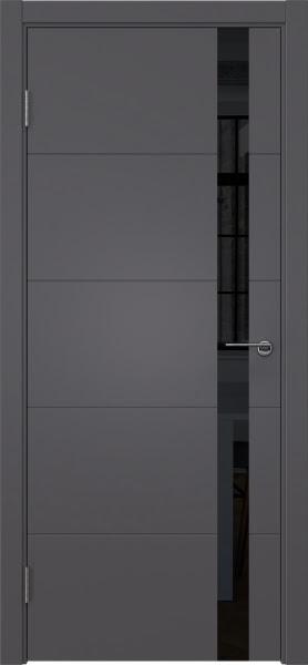 Межкомнатная дверь ZM033 (эмаль графит, лакобель черный)